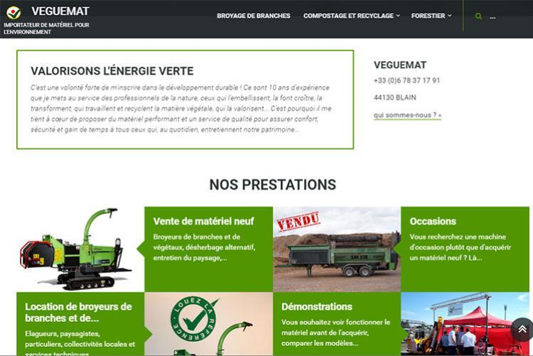 Site internet vitrine et catalogue produits